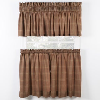 Ellis Curtain Morrison Rust Tiers and Tailored Valance sold seperately
