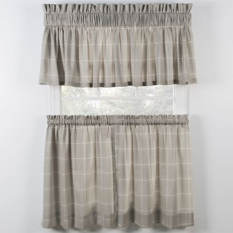 Ellis Curtain Morrison Natural Tiers and Tailored Valance sold spereately