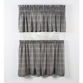 Ellis Curtain Morrison Black Tiers and Tailored Valance sold sperately