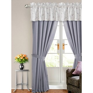Tribeca Living Mirage Cotton 6-piece Window Treatment Set