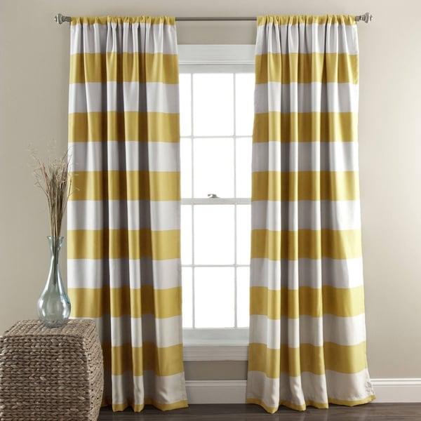 Lush Decor Stripe Blackout Curtain Panel Pair - 50 X 84