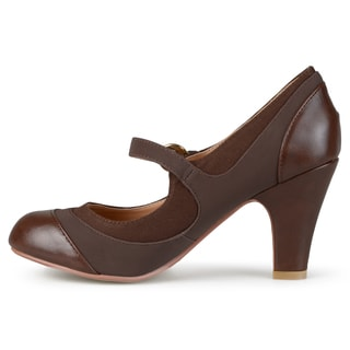 Journee Collection Women's 'Siri' Two-tone Tweed Mary Jane Pumps