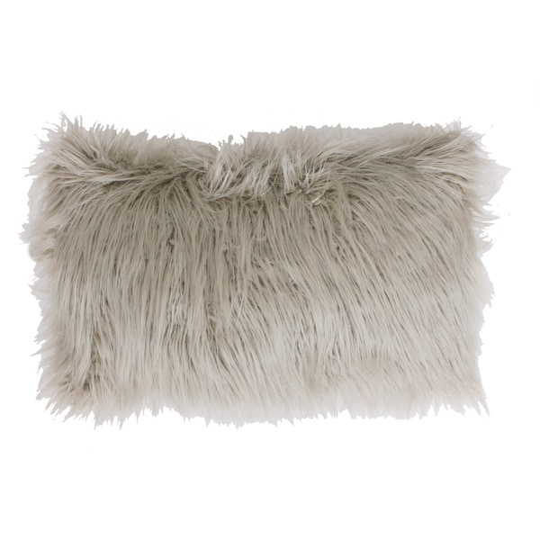 thro by marlo lorenz keller faux mongolian rectangle throw pillow