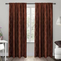 ATI Home Como Embroidered Rod Pocket Top Curtain Panel Pair