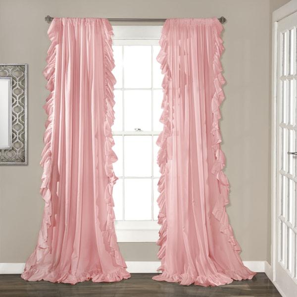 "Lush Decor Reyna Window Curtain Panel Pair 84/"" x 54/"" Ivory Free Shipping"