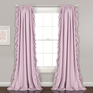 Maison Rouge Fabien Curtain Panel Pair (Option: 84 Inches - Lilac)