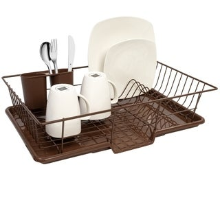 Bronze 3-Piece Dish Drainer Set
