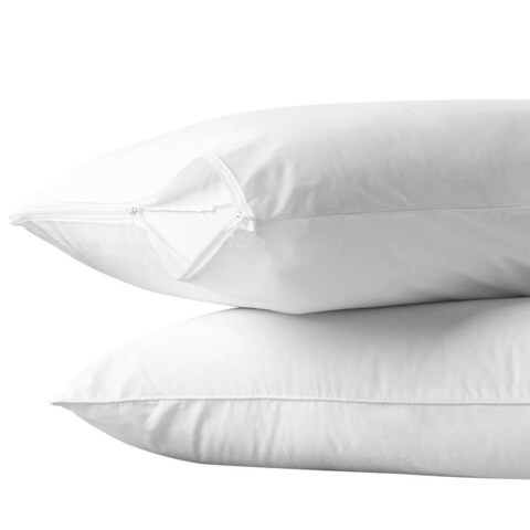 Bon Bonito Pillow Case Allergy and Bed Bug Control Zippered Pillow Protector (Set of 2)