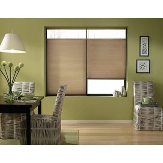 First Rate Blinds Cordless Antique Linen Top Down Bottom Up Cellular Shades