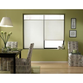 First Rate Blinds Cool White Cordless Top Down Bottom Up Cellular Shades