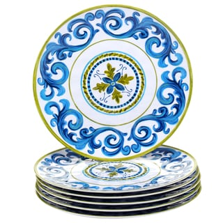 Certified International Blue Grotto 11-inch Melamine Dinner Plates (Set of 6)