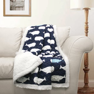 Lush Decor Whale Sherpa Throw