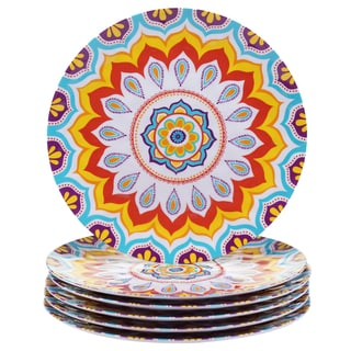 Certified International Akela 11-inch Melamine Dinner Plates (Set of 6)