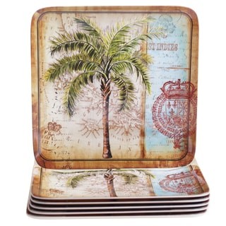 Certified International Antique Palms 10.5-inch Melamine Dinner Plates (Set of 6)