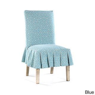 Roman Key Short Pleated Dining Chair Slipcover