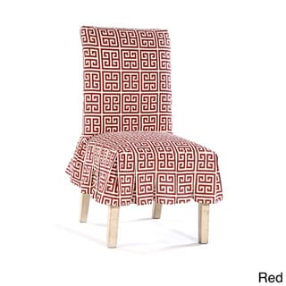 Roman Key Short Pleated Dining Chair Slipcover