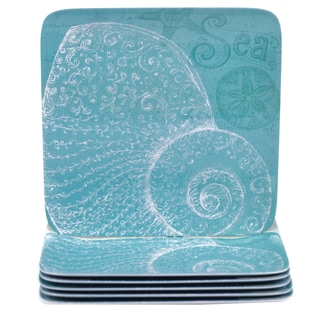 Certified International Aqua Treasures 10.5-inch Melamine Dinner Plates (Set of 6)