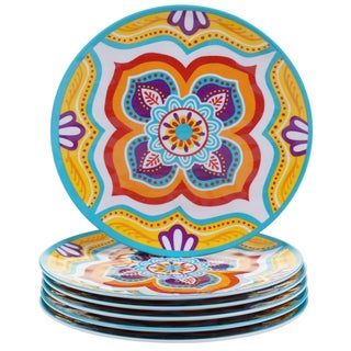Certified International Akela 9-inch Melamine Salad Plates (Set of 6)
