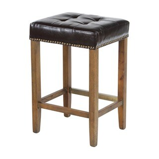 Nashville Classic Leather Nail Head Counter Stool