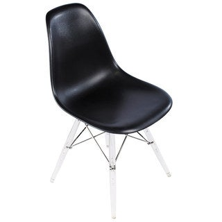 Eames-Style Side Chair with Clear Legs