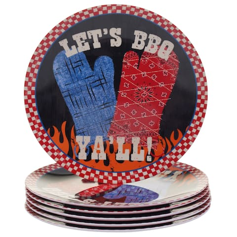 Certified International BBQ Bandit Melamine Salad Plates (Set of 6)