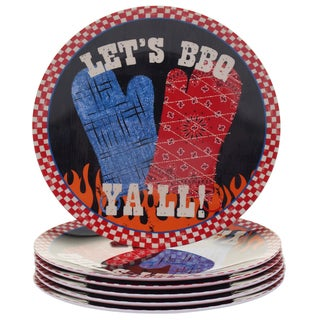 Certified International BBQ Bandit 9-inch Melamine Salad Plates (Set of 6)