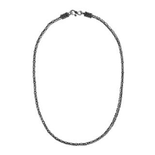 4mm Balinese Byzantine .925 Sterling Silver Chain Necklace (Thailand)