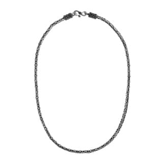 Handmade 4mm Balinese Byzantine .925 Sterling Silver Chain Necklace (Thailand)