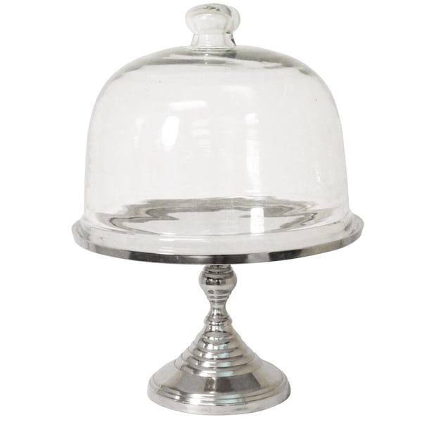 Party Essentials Dome Glass Cake Stand Multi Server  sc 1 st  Overstock & Party Essentials Dome Glass Cake Stand Multi Server - Free Shipping ...