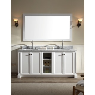 "Westwood 73"" Double Sink Vanity Set in White"