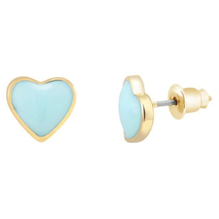 Goldplated Heart Stud Earrings
