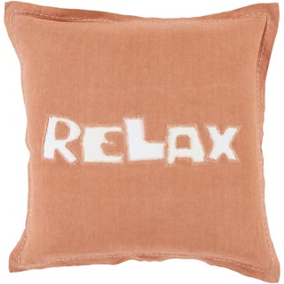 Decorative Ordie 18-inch Poly or Feather Down Filled Pillow (Polyester - Orange)