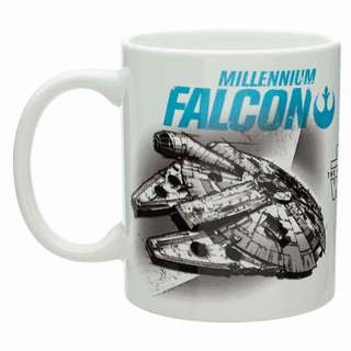 StarWars TIE Fighter and Millennium Falcon Coffee Mug