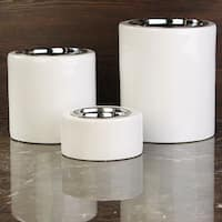 Unleashed Life High-Rise White Collection Pet Bowls
