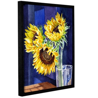 ArtWall 'Irina Sztukowsi's Sunflowers 2' Gallery Wrapped Floater-framed Canvas