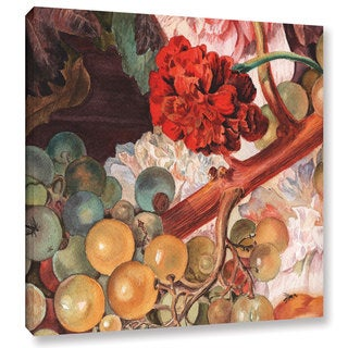 ArtWall 'Irina Sztukowsi's Grapes And Flowers' Gallery Wrapped Canvas