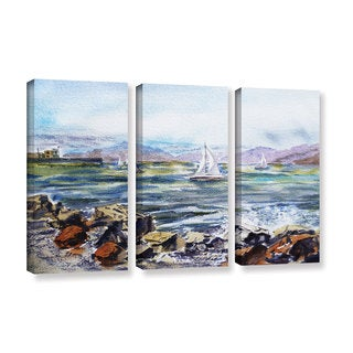 ArtWall 'Irina Sztukowski's Richmond Shore' 3-piece Gallery Wrapped Canvas Set