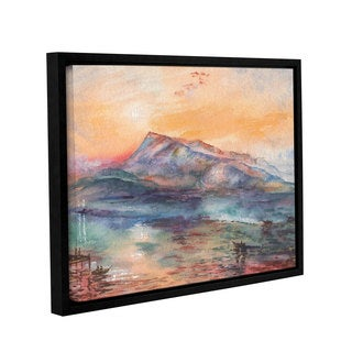 ArtWall 'Irina Sztukowski's Mount Rigi Switzerland Lake' Gallery Wrapped Floater-framed Canvas