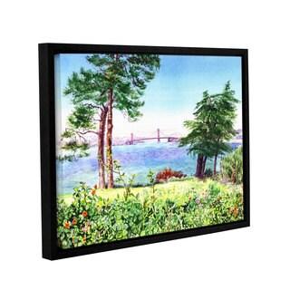 ArtWall 'Irina Sztukowski's Golden Gate Bridge 1' Gallery Wrapped Floater-framed Canvas