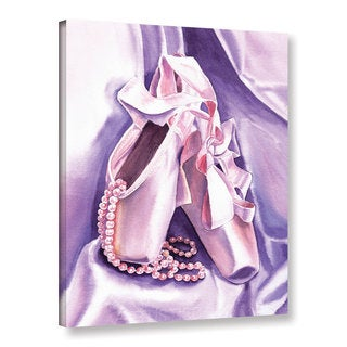 ArtWall 'Irina Sztukowsi's Ballet Shoes Dancing Pearls' Gallery Wrapped Canvas