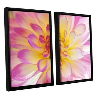 ArtWall 'Kathy Yates's All Dahled Up' 2-piece Floater Framed Canvas Set - Multi
