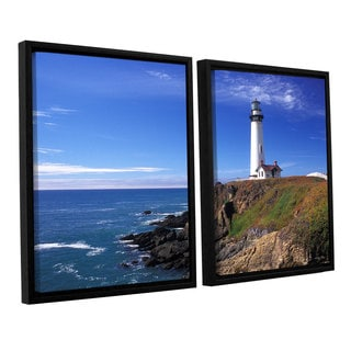 ArtWall 'Kathy Yates's Pigeon Point Lighthouse' 2-piece Floater Framed Canvas Set