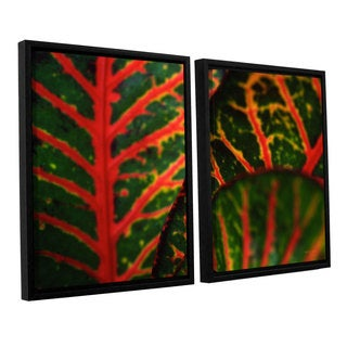 ArtWall 'Kathy Yates's Croton Abstract' 2-piece Floater Framed Canvas Set