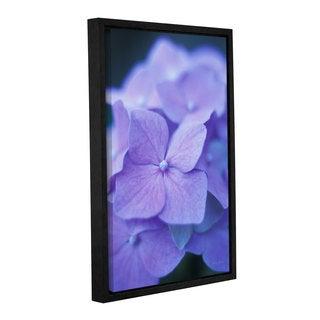 ArtWall 'Kathy Yates's Blue Hydrangeas' Gallery Wrapped Floater-framed Canvas