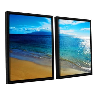 ArtWall 'Kathy Yates's Blue Hawaii' 2-piece Floater Framed Canvas Set