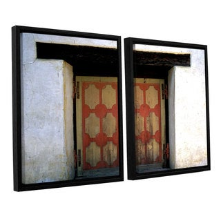 ArtWall 'Kathy Yates's Mission Door' 2-piece Floater Framed Canvas Set