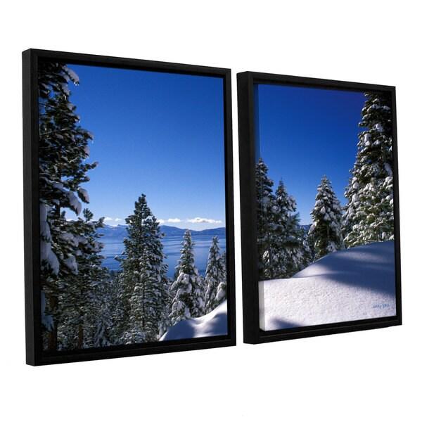 ArtWall 'Kathy Yates's Lake Tahoe in Winter' 2-piece Floater Framed Canvas Set - Multi