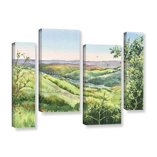 ArtWall 'Irina Sztukowski's Inspiration Point' 4-piece Gallery Wrapped Canvas Staggered Set
