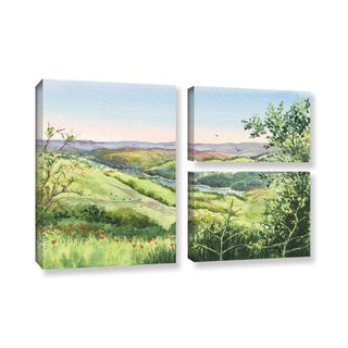 ArtWall 'Irina Sztukowski's Inspiration Point' 3-piece Gallery Wrapped Canvas Flag Set