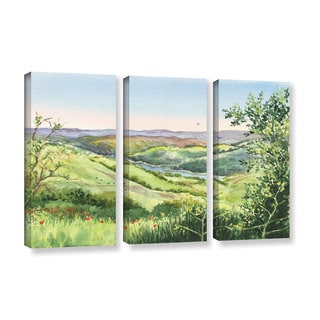 ArtWall 'Irina Sztukowski's Inspiration Point' 3-piece Gallery Wrapped Canvas Set